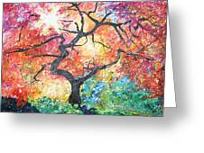 Red Japanese Maple Greeting Card
