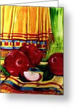 Red Juicy Apples Greeting Card