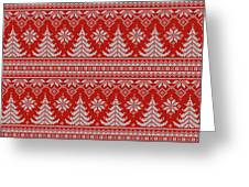 Red Knitted Winter Sweater Greeting Card