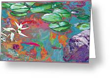 Red Koi In Green Disguise Greeting Card