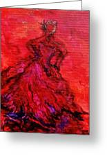 Red Lady Greeting Card