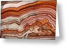 Red Laguna Lace Agate Greeting Card
