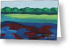 Red Lake Greeting Card