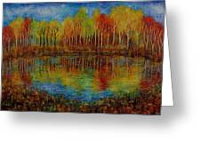 Red Lake. Greeting Card