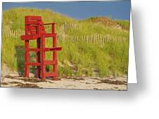 Red Lifeguard Seat Greeting Card