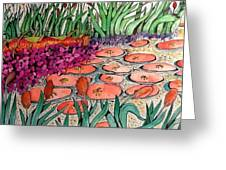 Red Lillies 2 Greeting Card