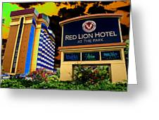 Red Lion Hotel In Spokane Greeting Card