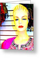 Red Lips And Sequins Greeting Card