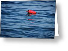 Red Lobster Buoy Greeting Card