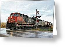 Red Locomotive Greeting Card