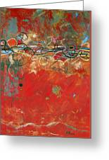 Red Meander Greeting Card