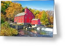 Red Mill Nj Fall Landscape Greeting Card