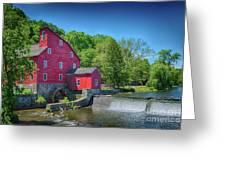 Red Mill Of Clinton New Jersey Greeting Card