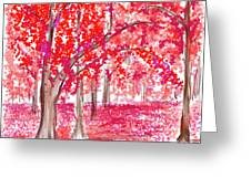 Red Mood Greeting Card