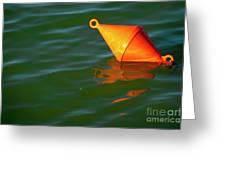 Red Mooring Buoy Greeting Card