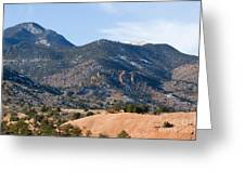 Red Mountain And Pikes Peak Greeting Card