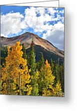 Red Mountain Fall Colors Greeting Card