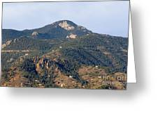 Red Mountain In The Foothills Of Pikes Peak Colorado Greeting Card