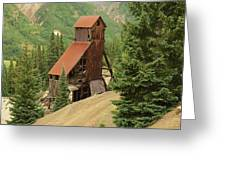 Red Mountain Mine. Greeting Card
