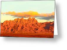 Red Mountain Sunset Organs Greeting Card