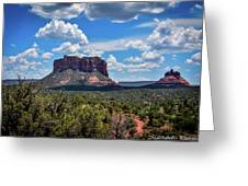 Red Mountain Top Greeting Card