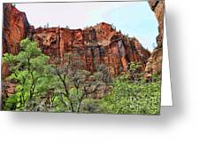 Red Mountains Zion National Park Usa Greeting Card