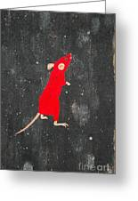Red Mouse Greeting Card