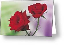 Red Mr. Lincoln Roses Greeting Card