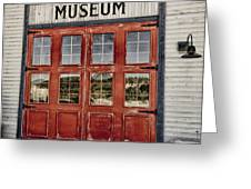 Red Museum Door Greeting Card