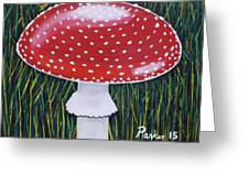 Red Mushroom Greeting Card