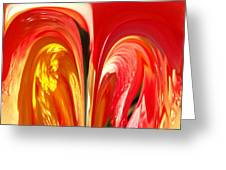 Red N Yellow Flowers 4 Greeting Card