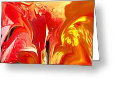 Red N Yellow Flowers 5 Greeting Card