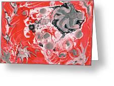 Red Nebula Greeting Card