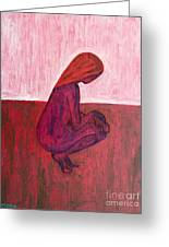 Red Nude Greeting Card