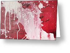 Red Number Seven Greeting Card