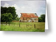 Red Oak Barn Greeting Card