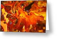 Red Oak Leaf Greeting Card
