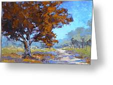 Red Oak Greeting Card by Yvonne Ankerman