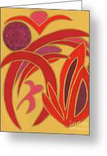 Red On Gold II Greeting Card