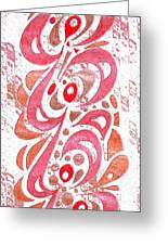 Red Orchid Cluster  Greeting Card