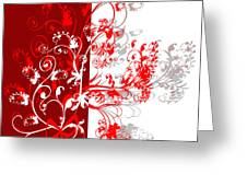 Red Ornament Greeting Card