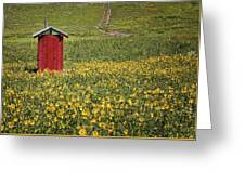 Red Outhouse 6 Greeting Card