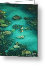 Red Outrigger Canoe Greeting Card by Ron Dahlquist - Printscapes