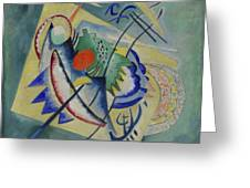 Red Oval By Vassily Kandinsky Greeting Card