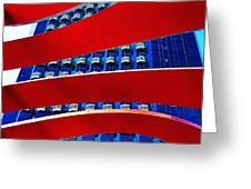 Red Over Blue Greeting Card