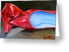 Red Patent Shoes Greeting Card