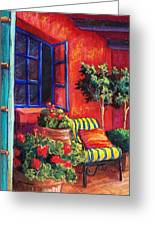 Red Patio Greeting Card