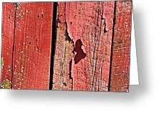 Red Peeling Paint- Fine Art Greeting Card