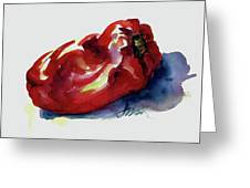 Red Pepper Greeting Card