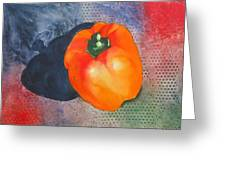 Red Pepper Solo Greeting Card